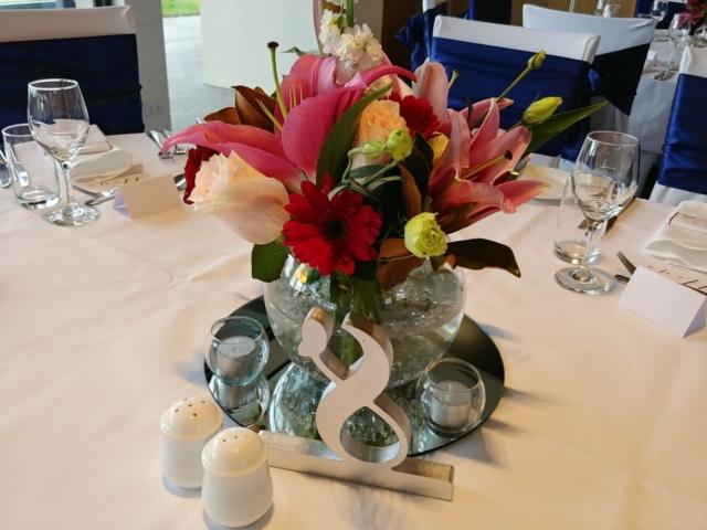 Fishbowl Table Arrangement