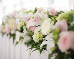 Ceremony Flowers Bridal Table