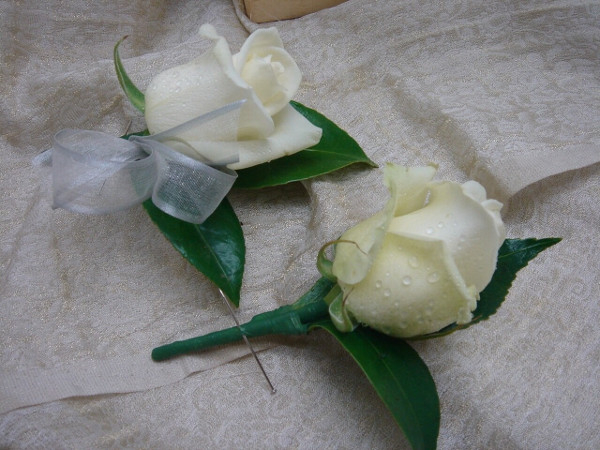 Wedding Buttonholes White