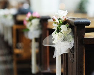 Pew Ceremony Flowers