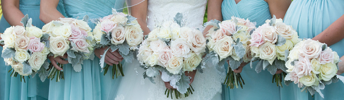 Wedding flower bunches