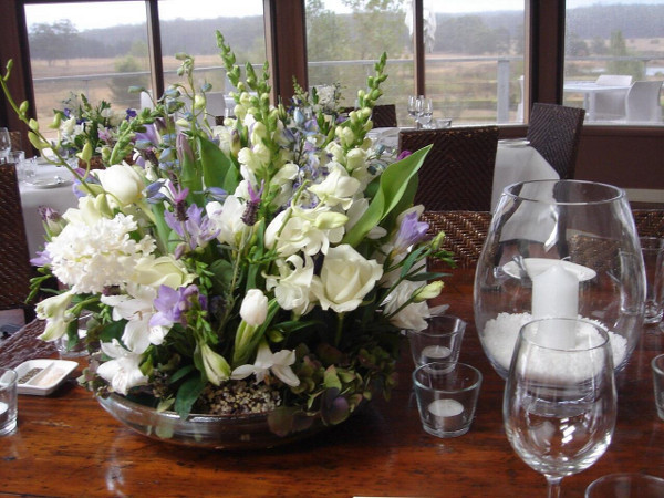 Table Arrangement Reception Flowers