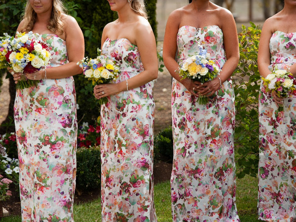 Bridesmaids wedding flower bouquets