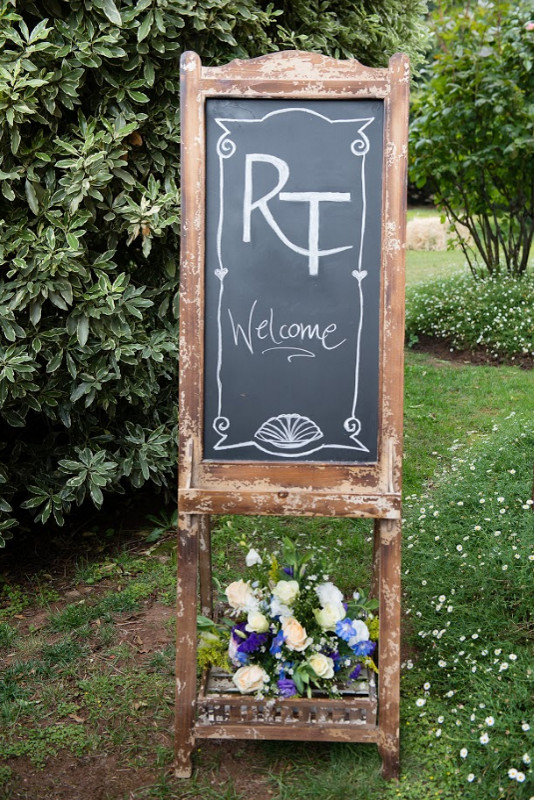 Wedding Flower Welcome Sign