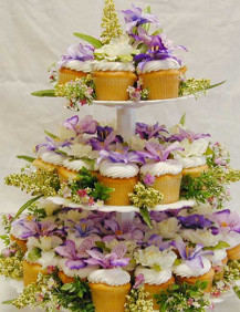 Wedding Cake Flowers - Cup Cake