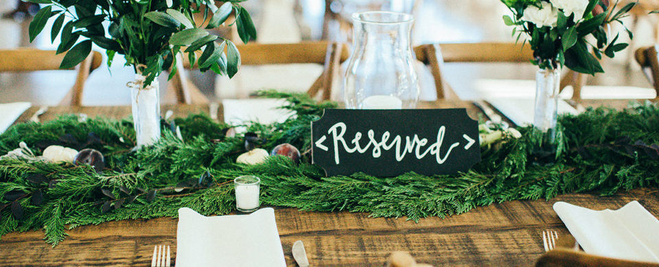 Reception Greenery Tables
